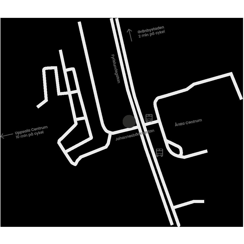 Cykelkungen Uppsala karta